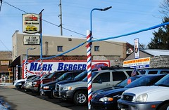Mark Berger Motors - Rockford, Illinois (Cragin Spring) Tags: illinois il midwest unitedstates usa unitedstatesofamerica rockford rockfordillinois rockfordil cars sign markbergermotors usedcars dealership cardealer