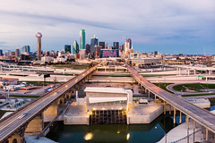 You take the left, Ill take the right, and we shall meet in the city! (RaulCano82) Tags: dallas dtx dallastexas dallasskyline downtowndallas downtown city cityscape aerial drone mavic mavicair raulcano texas tx trinity river quadcopter nca cheer competition 2020 02022020