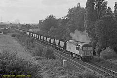 Eggborough to Drax (Don Gatehouse) Tags: britishrail br class56 grid eggborough selby drax whitleybridge coal powerstation exhaust brush type5 freight güterzug fret