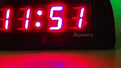 The Odd One Out (Eclectic Jack) Tags: the theoddone mondays macro hmm clock time numbers red black green advance macromondays