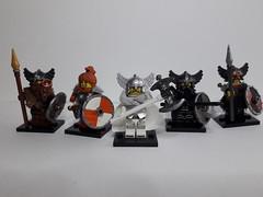 VIKINGS SET 2 (krisdecatte) Tags: lego medieval minifigurines custom viking