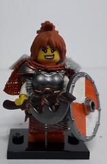 RED SONJA (krisdecatte) Tags: lego medieval minifigurines custom viking