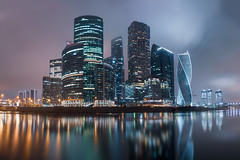 Moscow City - Moscow International Business Center Russia (Andrei Baskevich) Tags: glass eveningcity longexposurecity russia russian street water moscowpanorama panorama modern office panoramic district architecture business downtown view night nightcity landscape sky reflection landmark skyscraper centre cityscape skyscrapers construction high longexposurewater moscowcity longexposure blue urban reflectioninwater beautiful river tower longexposurephotography longexposurelights building light center city international moscow