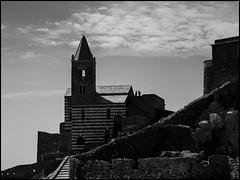 Skyline (GColoPhotographer) Tags: bw sanpietro landscape bianconero blackandwhite architechture portovenere liguria church lowkey