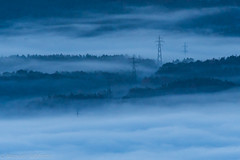 The path of light (The Little Window) Tags: tavertet osona fog mist niebla nikon d500 benro electric tower dark valley