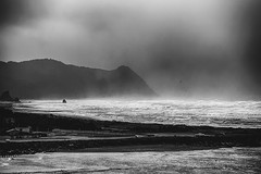 The gathering fog (World-viewer) Tags: nature landscape fog ocean oceanside beach seaside seashore mountain mountains gathering mist blackandwhite bw mono monochrome atmospheric compelling moody sony a6000 ilce6000 travel wander explore oregon goldbeach gold rogue river ngc award flickraward flickrttravelaward national geographic clouds cloudy storm stormy windy mbpictures mbpicture tagmadness toomanytags icantthinkofmoretags haveitaggedenough tagoverload foggy waves seas rough sea water marine dark breathtaking