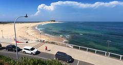 Bypassed (OzzRod) Tags: gopro hero7black seascape ocean beach headland thunderstorm lightpole bird shag promenade nobbys newcastle dailyinfebruary2020