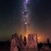 Summer Milky Way at The Pinnacles Desert, Western Australia