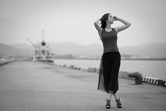 At the port (HarQ Photography) Tags: pier nikon 85mmf18 d800e portrait blackandwhite monochrome harbor happyplanet asiafavorites