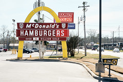 Remember When Your Parents Drove a 1970's Chevy Impala (Dysfunctional Photographer) Tags: classic sign urban mcdonalds pinebluff arkansas usa 2020 nikon z7 nef captureone single arch arches advertisement road cars day sunny
