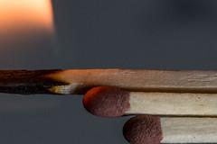The odd one , Macro Mondays (Mika Lehtinen) Tags: macromondays macro oddone mondays matches burn