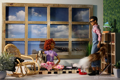 jolene & fox (photos4dreams) Tags: barbie regularlifeinthedollhouse doll photos4dreams p4d photos4dreamz toy puppe dress mattel barbies girl play fashion fashionistas outfit kleider mode puppenstube tabletopphotography aa ken africanamerican canoneos5dmark3 yoga upgradedtshirt
