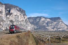OBB1216_Mezzocorona_31gen20 (treni_e_dintorni) Tags: obb obb1216 e190 railway züge ec eurocity taurus brennero trenidintorni treniedintorni treni train