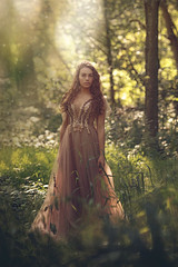 Sophia ({jessica drossin}) Tags: jessicadrossin woman portrait face green light grass trees forest netherlands dress teen backlight sheer wwwjessicadrossincom