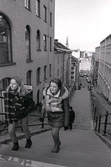 Stairs (Patrik Gustafsson) Tags: tmaxdeveloper 35mmfilm stillbelieveinfilm stillshootfilm analogcamera bw olympusom4ti kodaktmax400 filmforever street zuiko28mmf28