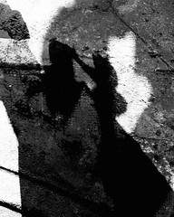 shadow play (Manhattan Girl) Tags: shellykayphotography bwphotography shadows lightandshadows monochromatic batman creatures urban fun