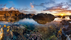 The Coral Garden (DanielKHC) Tags: reunion iledelareunion coral pond panorama nisi filters low tide