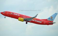 """Cewe Air - Cewe Fotobuch"" TUIfly GmbH D-AHFZ Boeing 737-8K5 Split Scimitar Winglets cn/30883-783 wfu and std at SNN 15 Oct 2017 reg F-GZTZ ASL Airlines France 18 Apr 2019 @ EDDL / DUS 26-06-2016 (Nabil Molinari Photography) Tags: ceweaircewefotobuch tuifly gmbh dahfz boeing 7378k5 split scimitar winglets cn30883783 wfu std snn 15 oct 2017 reg fgztz asl airlines france 18 apr 2019 eddl dus 26062016"