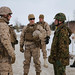 U.S., Japanese military leaders talk before a live fire demonstration during Northern Viper