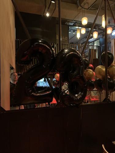 Folieballon Cijfer 23 Cafe in the City Rotterdam