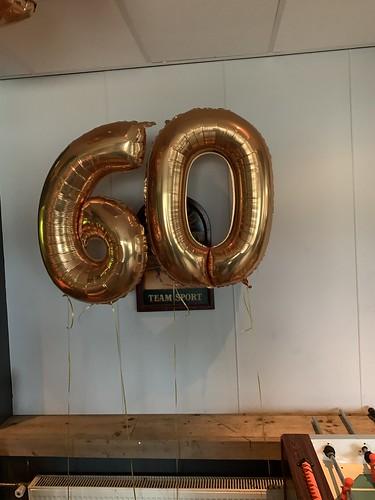 Folieballon Cijfer 60 Vollido Hendrik Ido Ambacht