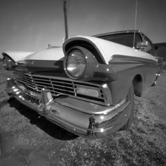 57 Ford Fairlane (Eye_and_Lens_and_Light) Tags: pinhole kodak film lensless zeroimage