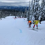 SilverStar Okanagan Speed Camp 2020 - Para Olympian Logan Leach and guide PHOTO CREDIT: Murray Smith