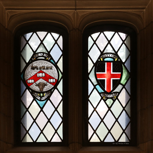 Stained glass windows: City of Darlington and City of Durham