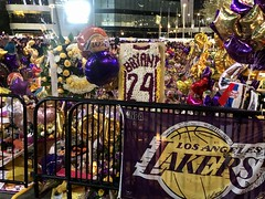 Kobe Bryant Memorial, Staples Center (jamestapparo) Tags: unity 8 james lebron poet philosopher blackmamba legend love pride la angeles los 24 gianna mourn night mourning center staples memorial nba lakers bryant kobe