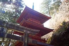 Pagoda (tez-guitar) Tags: pagoda architect winter shrine mountain backlight leica leicacl elmaritm21