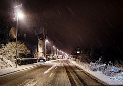 Once upon a time (A.K. 90) Tags: cityscape city streetphotography snow winter schnee stadt hometown strase night lightandshadows lichtschatten nacht sonyalpha6300 sigma30mm14 thüringen thüringerwald way road