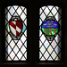 Stained glass windows: Geoffrey Chaucer and City of Sheffield
