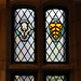 Stained glass windows: Jane Austen and City of Gloucester