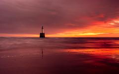 Rattray Head Lighthouse (PeskyMesky) Tags: rattrayhead lighthouse aberdeenshire scotland sunrise sunset landscape longexposure ocean outdoor water red sea sky sand beach