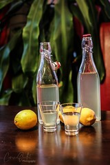 Homemade limoncello! (corineouellet) Tags: food colors composition lemon details lemons cocktail drinks hdr italie thirsty limoncello citrons canonphoto kitchen glasses