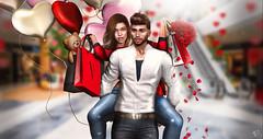 Valentine's Shopping (Client work) (meriluu17) Tags: cupidinc cupid shopping shop shops bag bags people portrait fun love couple roses petals friends