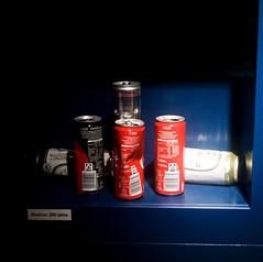 soft drink cans (mkk707) Tags: film analog 35mmfilm zeissikontenaxii carlzeissjenatessar204cm kodakcolorplus200 wwwmeinfilmlabde square 24x24 vintagelens vintagefilmcamera germancameras rangefinder zeissikonstyle