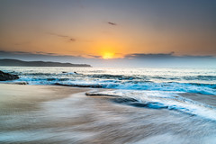 Here comes the Sun (Merrillie) Tags: daybreak landscape sun nature water sea waves sky northpearlbeach rocky newsouthwales rocks earlymorning morning pearlbeach coast ocean dawn sunrise nsw coastal australia outdoors waterscape seascape centralcoast clouds seaside
