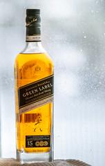 Liquid Sunshine (Rainfire Photography) Tags: tabletop stilllife backlight bottle johnniewalker scotchwhisky winter frost
