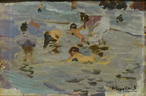 """""""NIños en la playa"""", 1904, , Joaquín Sorolla y Bastida (18631923), Musée des Beaux-Arts, Bilbao, Biscaye, Pays basque, Espagne."""