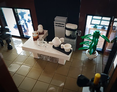 Maritime Museum MOC. Café. (betweenbrickwalls) Tags: lego afol interior interiordesign cafe coffee museum building