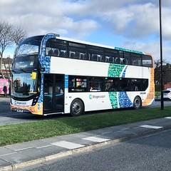 Stagecoach 11501 SN69ZRG ADL Enviro 400. (LVNWtransFoto) Tags: bus newcastle transport stagecoach 11501 appleiphone7plus sn69zrg nebuses alexander dennis adl400