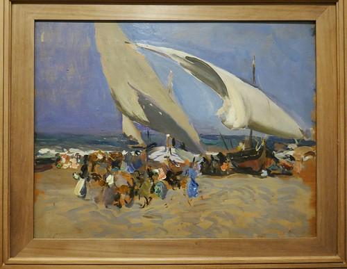 """""""Playa de Valencia"""", 1904, , Joaquín Sorolla y Bastida (18631923), Musée des Beaux-Arts, Bilbao, Biscaye, Pays basque, Espagne."""