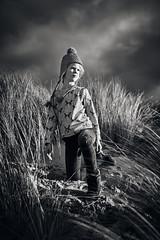 Roaming the dunes 2 (PascallacsaP) Tags: roaming dunes environmentalportrait environmentalportraiture portraiture portrait monochrome bw blackandwhite blackwhite marram marramgrass sea zee zeeland zeelandicflanders zeeuwsvlaanderen netherlands thenetherlands clouds sand noiretblanc