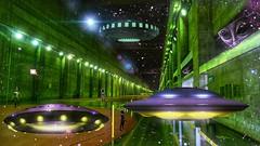 UFOs (sileneandrade10) Tags: sileneandrade ufos alienstation moonandstars spacialstation imageediting effects texture collage doubleexposure galaxy inanothergalaxy playphoto spatial spatialstation space awardtree artdigital sonydschx400v sony