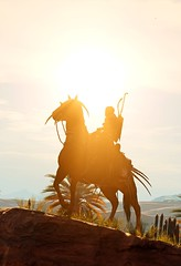 """Towards a New Day"" [Alt.] (L1netty) Tags: assassinscreed assassinscreedorigins ubisoft ubisoftmontreal pc game gaming pcgaming videogame reshade screenshot virtual digital srwe 6k character bayek bayekofsiwa man male people rider horse sky clouds sun color outdoor"