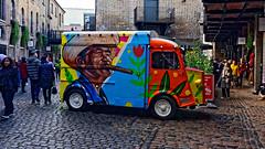 Colourful Van (Croydon Clicker) Tags: van citroen painted market cobbles people shops camden london nikond700 nikon nikkoraf28105mmd nikkor
