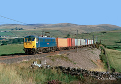 86233 'Laurence Olivier' At Greenholme (chrissyMD655) Tags: wcml greenholme br blue class 86 86233 cumbria fells containers ac electric loco
