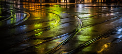Oslo, January 28, 2020 (Ulf Bodin) Tags: norway night streetphotography rail urbanlife winter street norge vinter oslo canonrf85mmf12lusm outdoor regn canoneosr rain wet