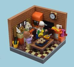 Happy Memories (MinifigNick) Tags: lego legominifigures legovignette vignette kitchen baking afol minifigure minifignick